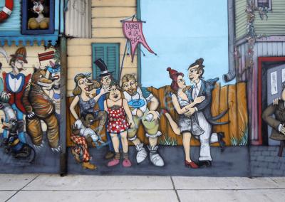 Buenos Aires, quartier de la Boca où on danse le tango argentin