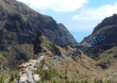 Masca, petit village au milieu de ravines profondes