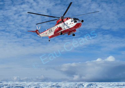 Arrivée sur l'inlandsis en hélicoptère