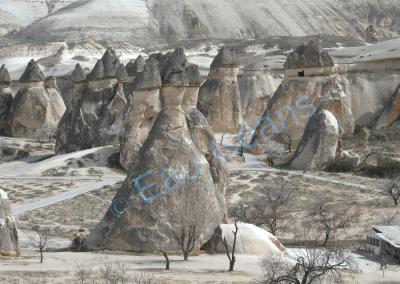 Champignons de pierre en Cappadoce (Turquie)