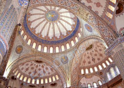 Grande Mosquée bleue (Turquie), décorée de 20 000 carreaux de faïence bleue